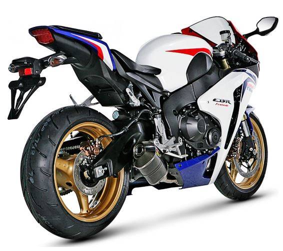 Honda CBR1000 Fireblade (08-13) Akrapovic Complete Stainless 4-2-1 System Conical Headers - Hexagonal Titanium Silencer (Race) With Removable Baffle