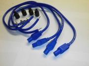 Taylor Blue Ignition Leads & Colour Matched plug caps
