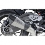 BMW S1000R (14-16) Yoshimura Titanium R55-LE Slip On (laser etched logo) - Carbon Coned End Cap & Heatshield