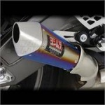 BMW S1000RR (10-14)  Yoshimura Titanium Blue Tri-Coned End Cap Road Legal Slip On