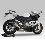 BMW S1000RR (10-14) Yoshimura Titanium R-11 Slip On With Carbon Dual-Exit Coned End Cap