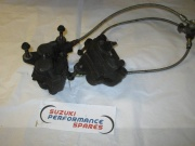 Suzuki GSX600F  89-97 Good Front Calipers & Brake lines (pair)